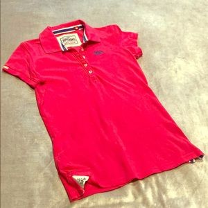 SUPERDRY Fitted polo shirt in hot pink (fuchsia)!